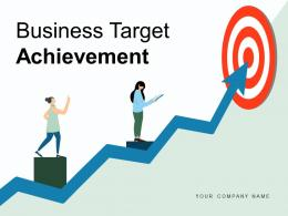 Business Target Achievement Ladder Marketing Development Strategy Mission Goal