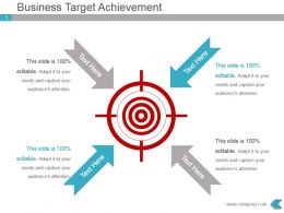 Business Target Achievement Presentation Visual Design