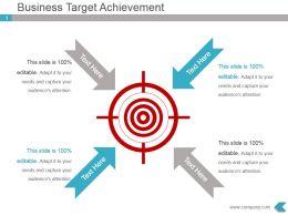 Business Target Achievement Presentation Visual Design