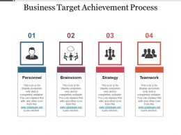 Business Target Achievement Process Powerpoint Graphics