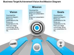 Business Target Achievement Vision And Mission Diagram Powerpoint Templates