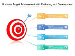 Business Target Achievement With Marketing And Development