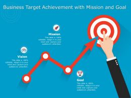 Business Target Achievement With Mission And Goal