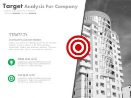 Business Target Analysis For Company Powerpoint Slides