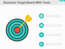 Business Target Board With Tools Powerpoint Slides