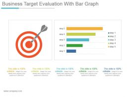 Business Target Evaluation With Bar Graph Powerpoint Slide Download