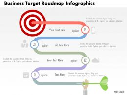 Business Target Roadmap Infographics Flat Powerpoint Design
