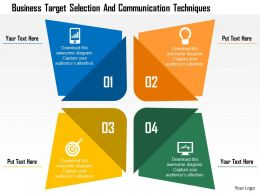 business_target_selection_and_communication_techniques_flat_powerpoint_design_Slide01