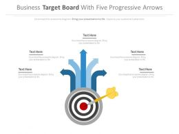 Business Targets Board For Target Analysis Powerpoint Slides