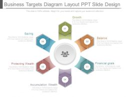 Business Targets Diagram Layout Ppt Slide Design