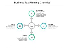 Business Tax Planning Checklist Ppt Powerpoint Presentation Gallery Deck Cpb