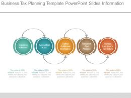 Business Tax Planning Template Powerpoint Slides Information