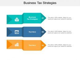 Business Tax Strategies Ppt Powerpoint Presentation Gallery Portfolio Cpb