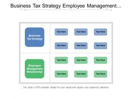 Business Tax Strategy Employee Management Relationship Firm Structure Cpb
