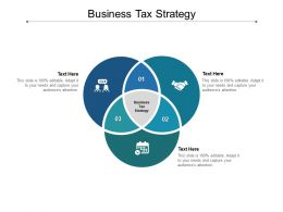 Business Tax Strategy Ppt Powerpoint Presentation Slides Samples Cpb