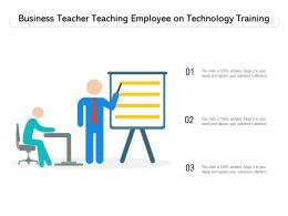 Business Teacher Teaching Employee On Technology Training
