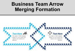 Business Team Arrow Merging Formation Ppt Infographics