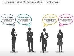 Business Team Communication For Success Flat Powerpoint Design