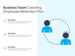 Business Team Creating Employee Retention Plan