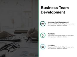 Business Team Development Ppt Powerpoint Presentation Ideas Master Slide Cpb