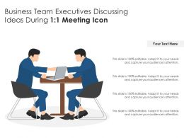Business Team Executives Discussing Ideas During 1 1 Meeting Icon