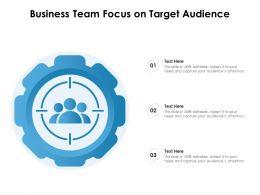 Business Team Focus On Target Audience