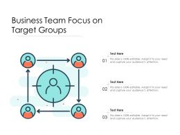 Business Team Focus On Target Groups