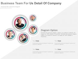 Business Team For About Us Detail Of Company Powerpoint Slides