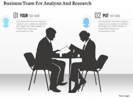 Business Team For Analysis And Research Powerpoint Template