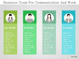 Business Team For Communication And Work Flat Powerpoint Design