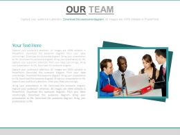 Business Team For Data Analysis And Support Powerpoint Slides