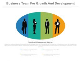 Business Team For Growth And Development Powerpoint Slides