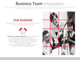 Business Team For Partnership And Deal Powerpoint Slides