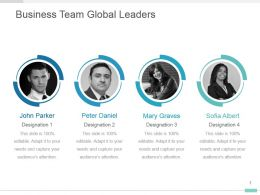Business Team Global Leaders Powerpoint Ppt Visual