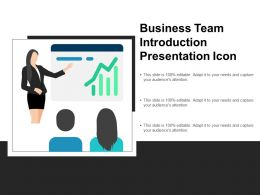Business Team Introduction Presentation Icon