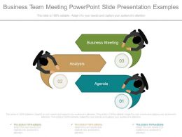Business Team Meeting Powerpoint Slide Presentation Examples