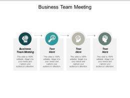 Business Team Meeting Ppt Powerpoint Presentation Outline Infographic Template Cpb