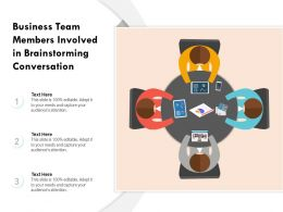 Business Team Members Involved In Brainstorming Conversation