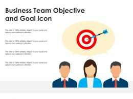 Business Team Objective And Goal Icon