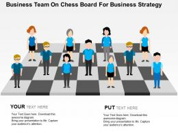 Business Team On Chess Board For Business Strategy Flat Powerpoint Design