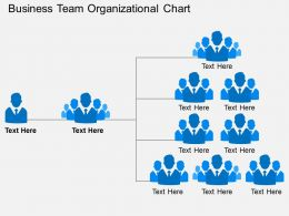 Business Team Organizational Chart Flat Powerpoint Design