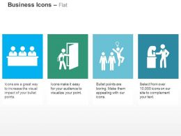Business Team Panel Success Opportunity Idea Bulb Up Ppt Icons Graphics