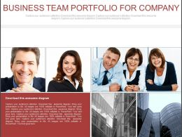 Business Team Portfolio For Company Flat Powerpoint Design