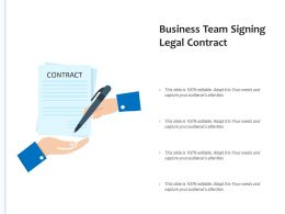 Business Team Signing Legal Contract