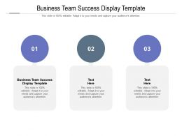 Business Team Success Display Template Ppt Powerpoint Presentation Portfolio Images Cpb