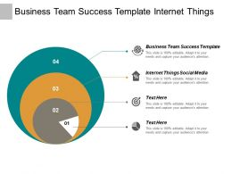Business Team Success Template Internet Things Social Media Cpb