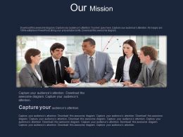 Business Team With Business Mission Powerpoint Slides