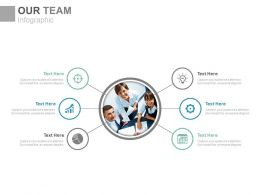 Business Team With Multiple Icons For Business Process Powerpoint Slides