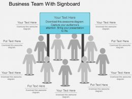 business_team_with_signboard_flat_powerpoint_design_Slide01