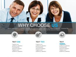 Business Team With Why Choose Us Strategy Powerpoint Slide